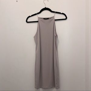 Strappy, Mauve-Taupe Fitted Dress